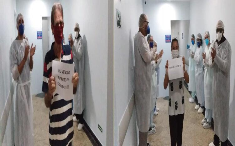 Primeiros pacientes internados no Setor Covid do HRDV recebem alta e retornam para casa