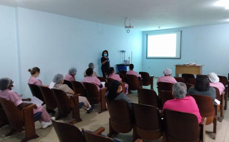 HRDV promove treinamento sobre higienização e segurança no ambiente hospitalar aos seus colaboradores