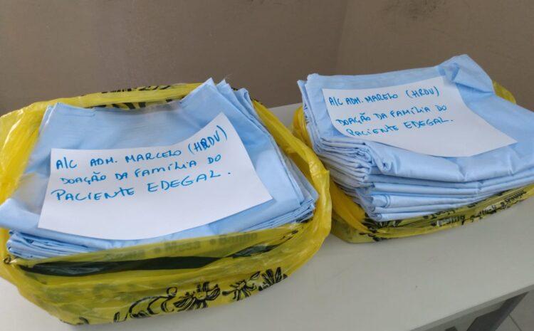 Família de paciente internado no HRDV faz doação como gesto de agradecimento