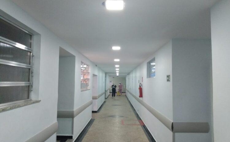 Modernização da iluminação dos corredores do HRDV